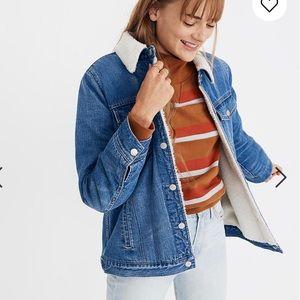Madewell Oversized Jean Sherpa Jacket